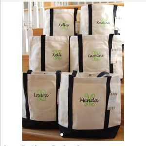 🌴 Personalized Tote Bag Embroidered Monigram